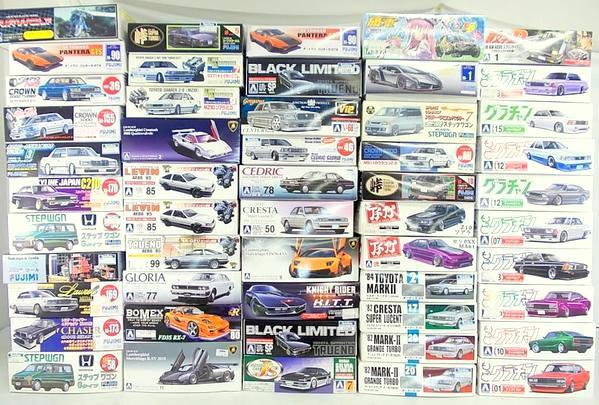 アオシマのプラモと言えば、、トラック野郎、旧車!、バイク、スーパーカーなんかの熱い感じのコレクション!が良いですね!