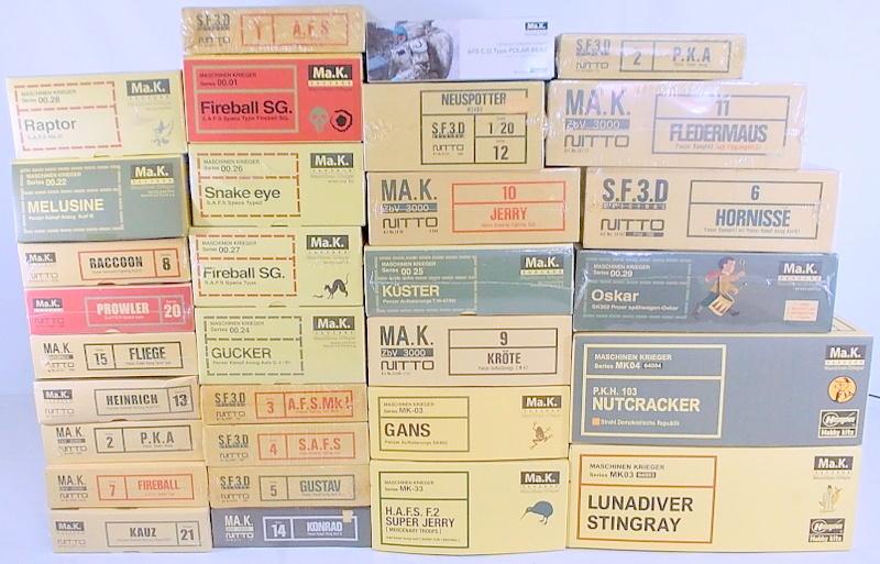 マシーネンクリーガーと言えば、S.F.3.Dのプラモがお約束でしたが、最近はメディコムやらトイズマッコイやらの完成フィギュアも中々いいんですよ・・・