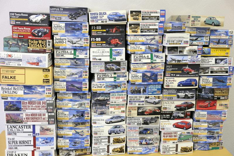ハセガワのプラモと言えば、、航空機、軍用機を集中して集めたい! 1/8なんかの高級機もいいけれど、1/144 1/72 なんかの小さいスケールも好きです。。。ああ赤とんぼ それは1/32