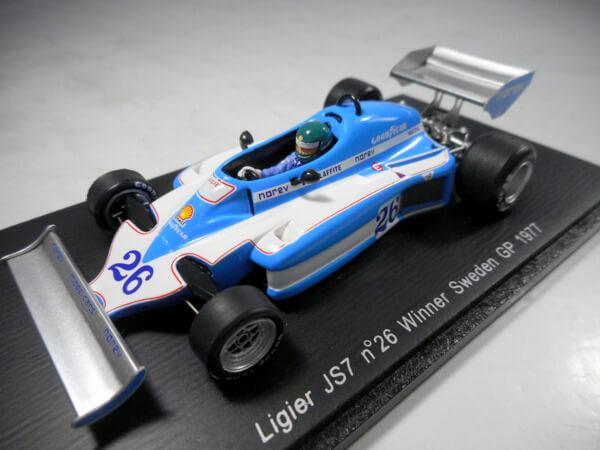 スパーク 1/43 【Ligier JS7 #26 SwedenGP win 1977】#S1722