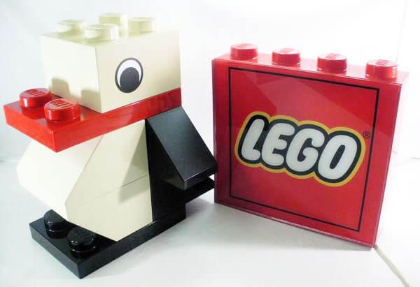 LEGO-レゴ-ジャンボフィグ-ペンギン-ライトスタンドセット