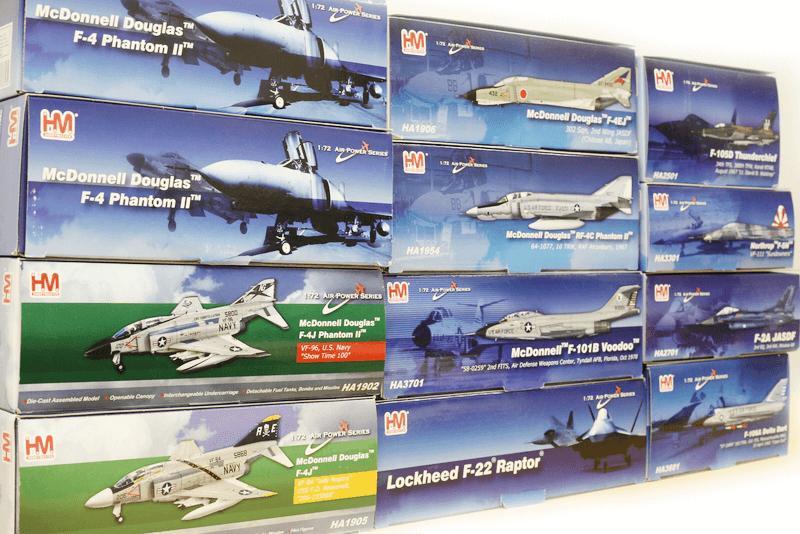 様々な戦闘機模型を作っていますホビーマスターを高価買取いたします!!