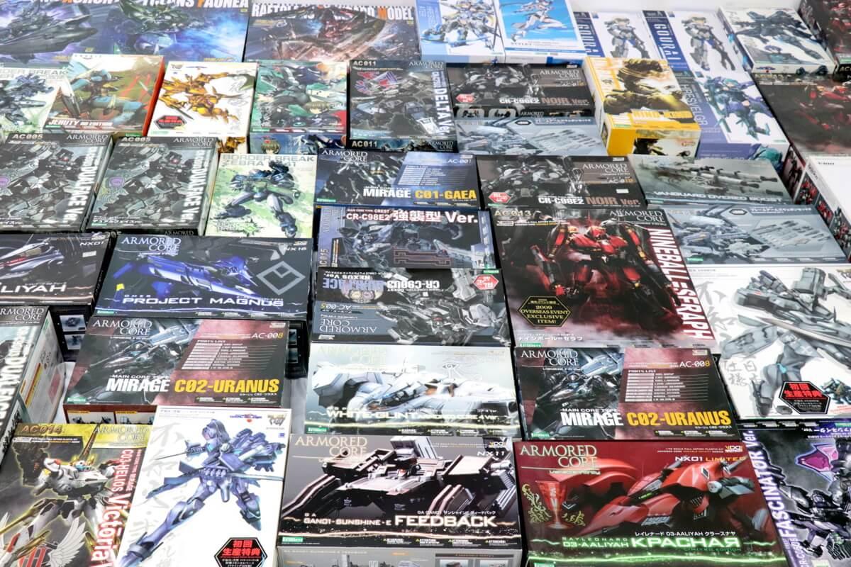 コトブキヤプラモを大量にお買取りしました。コトブキヤのプラモはシリーズも数多く展開しており、人気の高い商品ばかり。