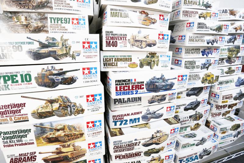 タミヤの軍モノプラモは集めて箱を眺めていると満足感がありますね。。。