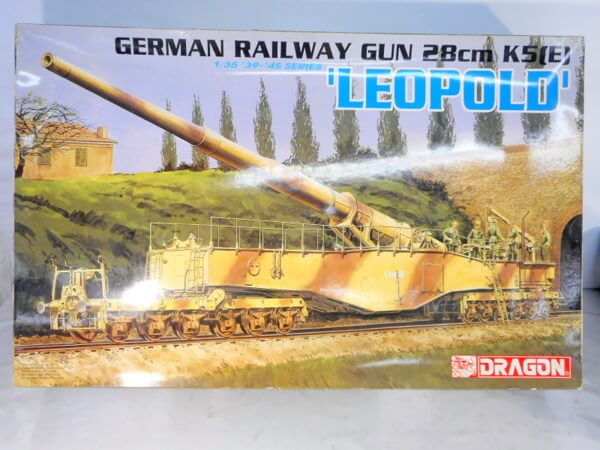 ドラゴン 1/35 【GERMAN RAILWAY GUN 28㎝ LEOPOLD】