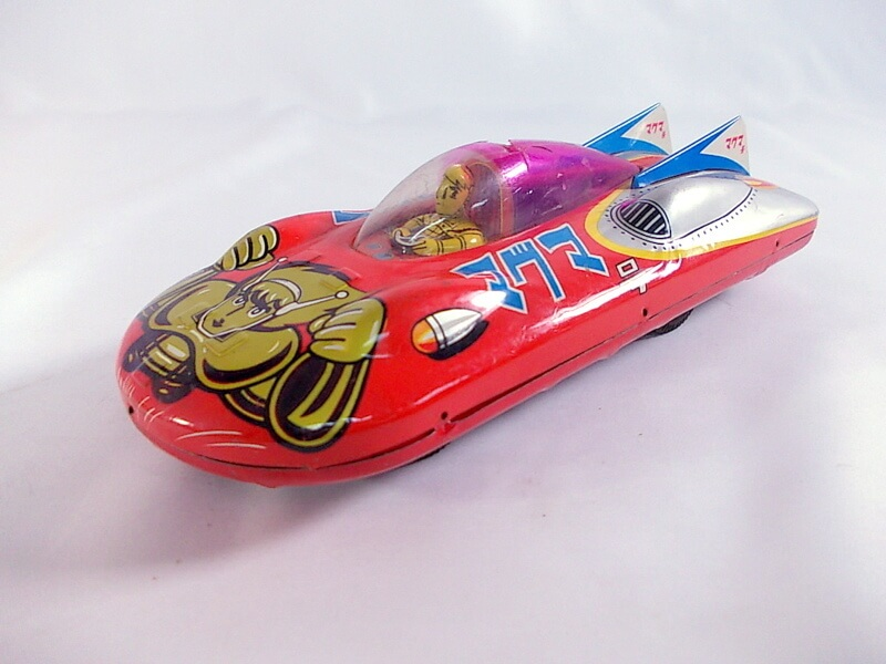 浅草玩具 マグマ大使 オートバイ ブリキ玩具