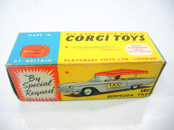 コーギーのミニカーは伝統と歴史があります。古いものは特に高価買取中です。