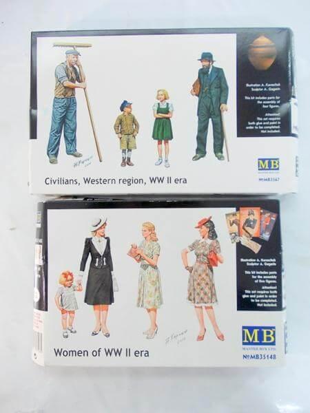 MB マスターボックス 1/35 欧州民間女性フィギア第二次大戦期 他