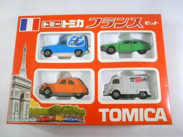 トミカ フランスセット(シトロエン・ルノー等4個)日本製