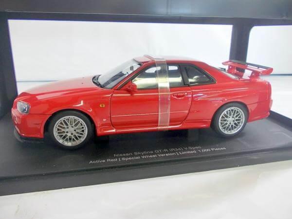 オートアート 1/18 スカイラインR34 GTR 1999 RED 77309
