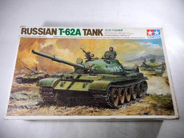 小鹿タミヤ 1/35 ソビエト T-62A戦車 リモコンタンク