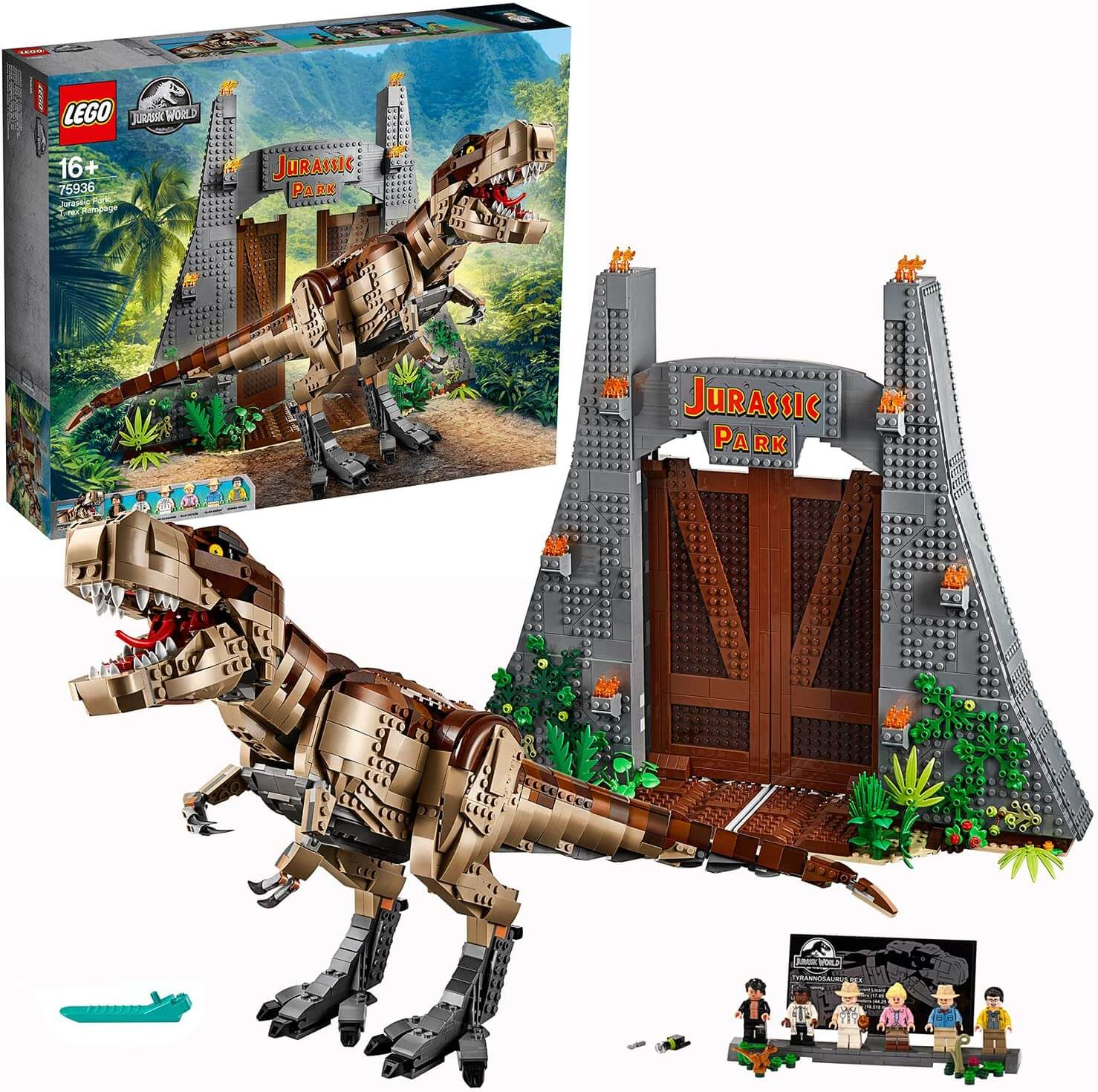 LEGO ジュラシック・パーク T-レックスが大暴れ 75936 を高額買取
