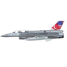 ホビーマスター 1/72 F-16D シンガポール空軍 HA3838