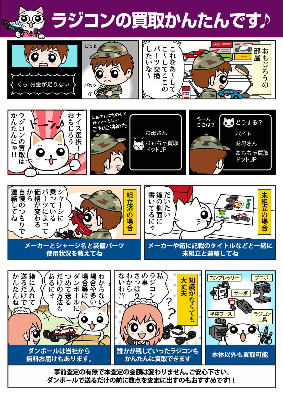 RC/ラジコン買取の流れ@おもちゃ買取ドットJP漫画版