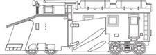 Nゲージ 国鉄 キ100形 ラッセル車 溶接車体タイプ 組立キット