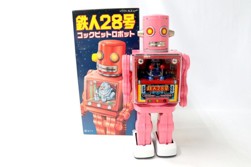 鉄人28号 コックピットロボット 人気のある大阪ブリキの復刻版のひとつだ